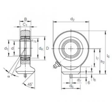 40 mm x 62 mm x 28 mm  INA GK 40 DO plain bearings