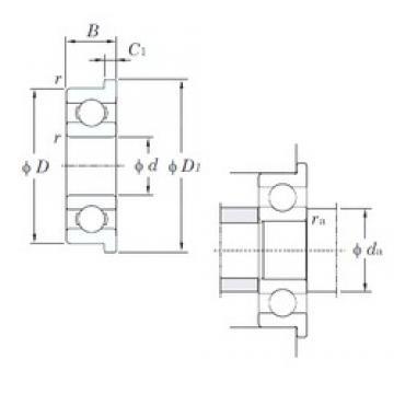 5 mm x 19 mm x 6 mm  KOYO F635 deep groove ball bearings