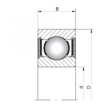 5 mm x 19 mm x 6 mm  Loyal 635-2RS deep groove ball bearings