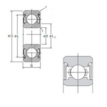 5 mm x 19 mm x 6 mm  NMB 635DD deep groove ball bearings
