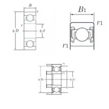 5 mm x 19 mm x 6 mm  KOYO 635-2RU deep groove ball bearings