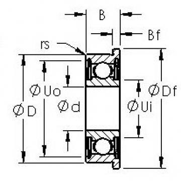 AST F635HZZ deep groove ball bearings