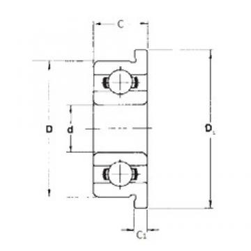 5 mm x 19 mm x 6 mm  FBJ F635 deep groove ball bearings