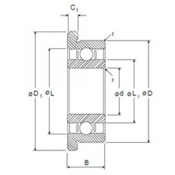 5 mm x 19 mm x 6 mm  NMB RF-1950 deep groove ball bearings