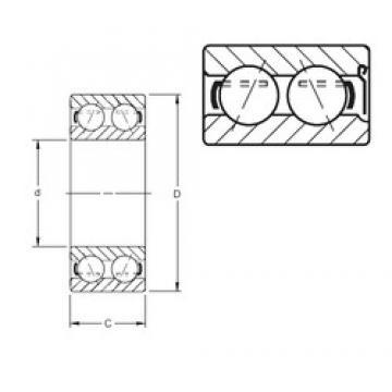 65 mm x 120 mm x 38,1 mm  Timken 5213WD angular contact ball bearings