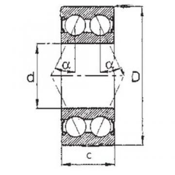 65 mm x 120 mm x 38,1 mm  FBJ 5213-2RS angular contact ball bearings