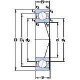 100 mm x 150 mm x 24 mm  SKF 7020 ACD/HCP4A angular contact ball bearings