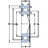 100 mm x 150 mm x 24 mm  SKF S7020 CE/P4A angular contact ball bearings