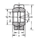 17 mm x 35 mm x 20 mm  FBJ GEG17ES plain bearings