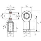 40 mm x 62 mm x 28 mm  INA GIR 40 UK-2RS plain bearings