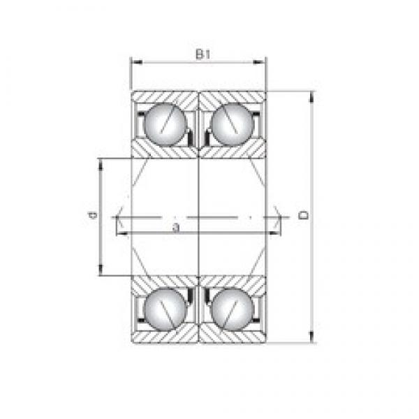 Loyal 7003 C-UO angular contact ball bearings #1 image