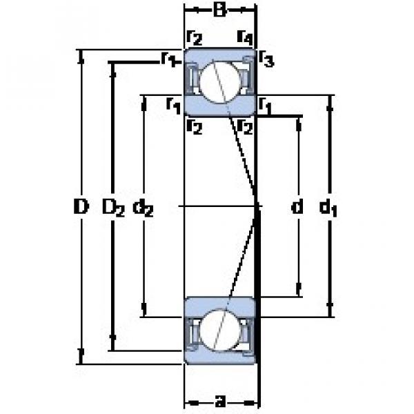 100 mm x 150 mm x 24 mm  SKF S7020 CD/P4A angular contact ball bearings #1 image