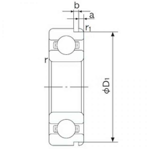 55 mm x 80 mm x 13 mm  NACHI 6911N deep groove ball bearings #1 image