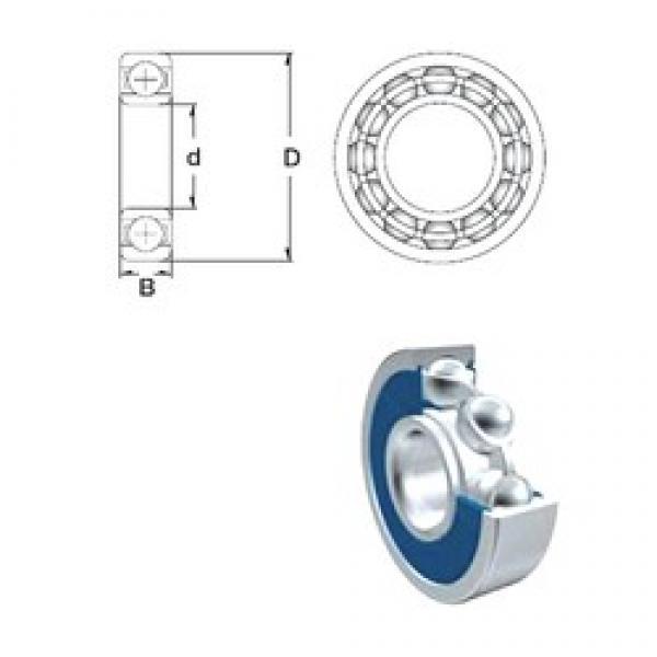 5 mm x 19 mm x 6 mm  ZEN 635-2RS deep groove ball bearings #1 image