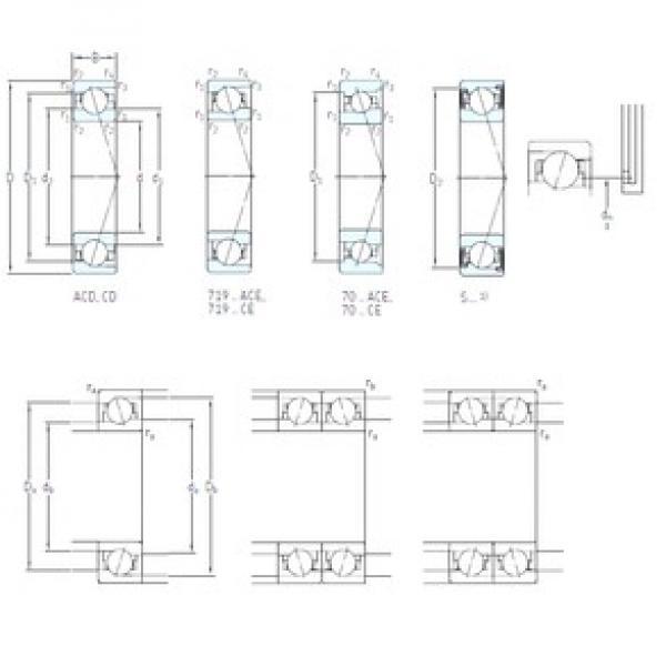 60 mm x 85 mm x 13 mm  SKF S71912 CB/P4A angular contact ball bearings #1 image