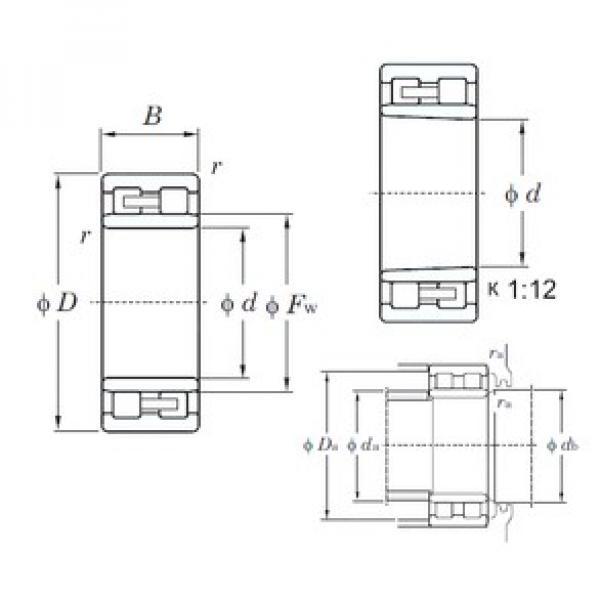 190 mm x 260 mm x 69 mm  KOYO NNU4938K cylindrical roller bearings #1 image