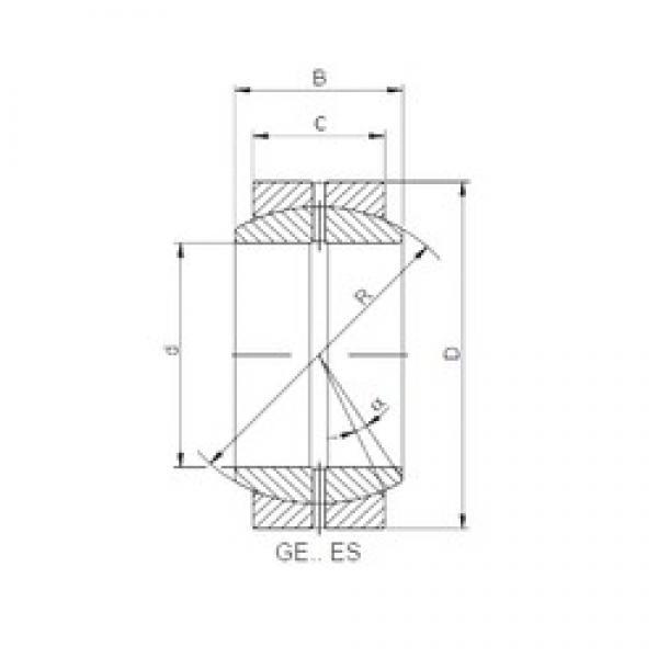 40 mm x 62 mm x 28 mm  Loyal GE 040 ES plain bearings #1 image
