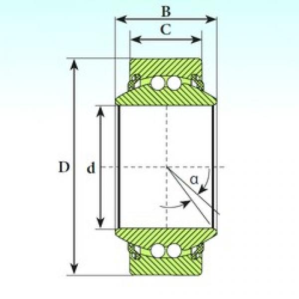 40 mm x 62 mm x 28 mm  ISB GE 40 BBL self aligning ball bearings #1 image
